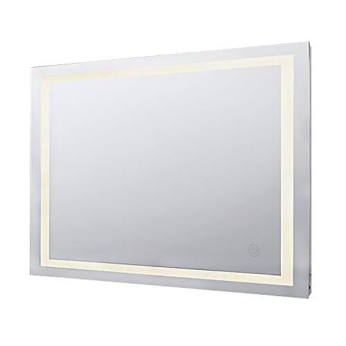 KAASUN Illuminated Bathroom Mirror Led Wall-Mounted Makeup Silvered Mirror 32