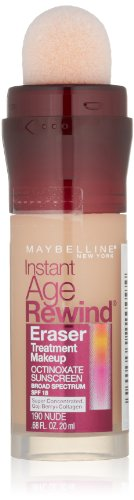 Maybelline New York Instant Age Rewind Eraser Treatment Makeup, Nude 190, 0.68 Fluid Ounce