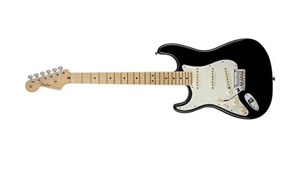 Fender American Standard Stratocaster MN BLK · Guitarra eléctrica zurdos: Amazon.es: Instrumentos musicales