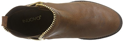 Inuovo Flossy - Botines Chelsea de Cuero Mujer marrón - Braun (COCONUT-D.BROWN ELASTIC)