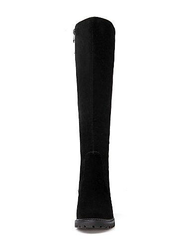 A 5 Tacón La 5 Eu33 Zapatos Casual Redonda 5 Botas Cn32 De Xzz us3 us10 Vestido Mujer Black Moda Vellón Uk8 Negro Eu42 Black Uk1 Robusto Punta Cn43 5 t8dwWzSq