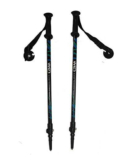 "WSD Ski Poles Telescopic Adjustable Collapsible Kids Junior Downhill/Alpine ski Poles 7075 Alu Pair with Baskets 32"" to 42"" New"