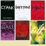 Ellen Hopkins 6 book set Glass, Crank, Impulse, Burned, Tricks, Tilt