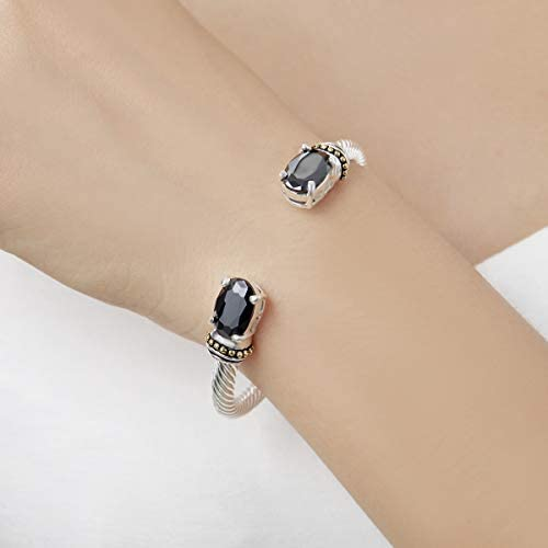 UNY Stainless Steel Cuff Bangles Crystal Mosaic Bracelet Bangle for Women Fashion Jewelry BR75854