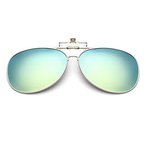 clipsables Meijunter on Désign Lunettes Cadre UV Protection lunettes Vert Flip Des soleil Anti Clip Classique up Lentille éblouissement Aviator de qtt6nrIa