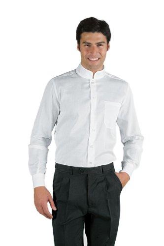Isacco Unisex Xs Albicocca 35 Camicia Manica 65 Bianco Poliestere Cotone Lunga 23388 Dublino SS5rq