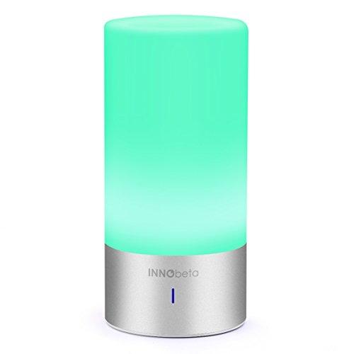 LED Farbwechsel Lampe mit Bluetooth Lautsprecher, InnoBeta Multifunktions - dimmbare Touch Nachtlicht Lampe Tischdeko Stimmungslicht Atmosphäre mit Bluetooth Lautsprecher, dekoratives Licht, Mood Light, Leselampe, Schlaf-Licht Tischleuchte Schreibtischlampe Tischlampe