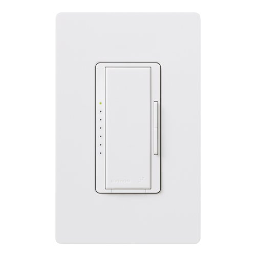 Lutron MRF2-600MHW-WH Maestro Wireless 600 Watt Multi-Location Dimmer with Wallplate, White ()