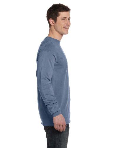 Maglietta A Maniche Lunghe Da Uomo Tinta Unita Ringspun Tinta Unita (c6014) Blu Jeans