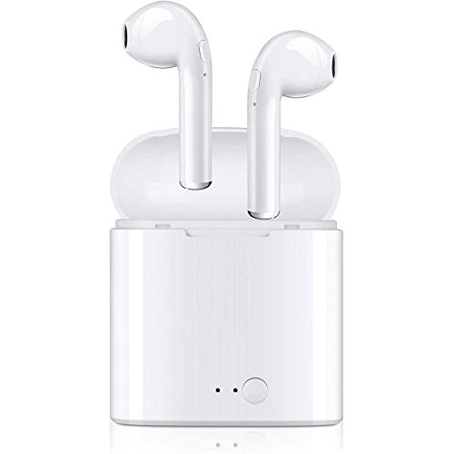 Stereo Sound Earphones, Sweatproof Noise Cancelling Mini Earbuds with Built-in Mic, Deep Bass Stereo Headphones for Workout, Running, Gym