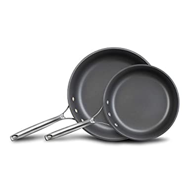 Calphalon Unison Nonstick Slide Surface Omelette Pan, 10 and 12 , Black