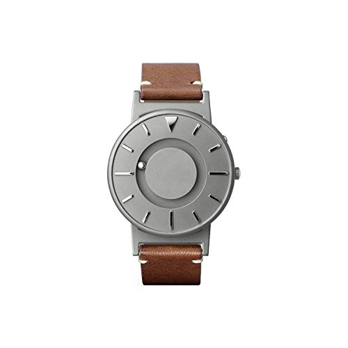 EONE Bradley Titanium Watch Classic Italian Brown Leath