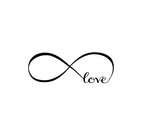 Love Infinity Symbol Wall Decal Home Background Decor Wall Art Sticker