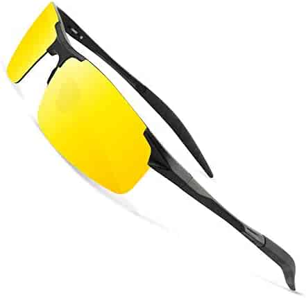 4c9e0b6526f HD Night Vision Glasses for Driving Anti-glare Polarized Yellow Lens Glasses  for Rainy Day