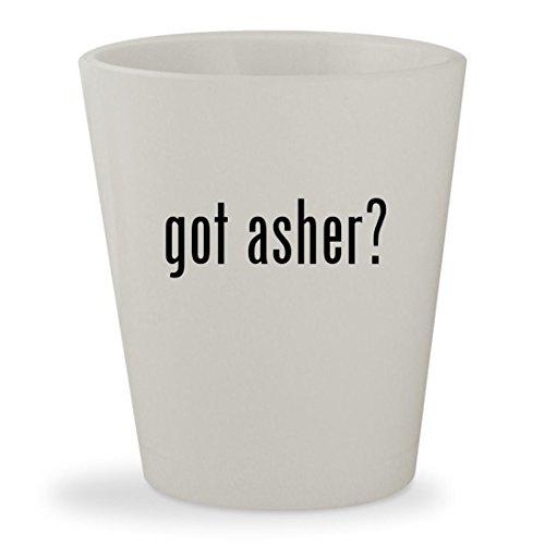 got asher? - White Ceramic 1.5oz Shot Glass (Covered Sugar Pretzels Free Chocolate)