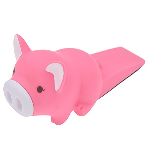 lychee Cartoon Dog Cat Pig Door Stopper Holder Terrier Plastic Home Decoration Toys by lychee