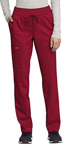 Cherokee WW Revolution WW105 Mid Rise Tapered Leg Drawstring Pant Red 2XL