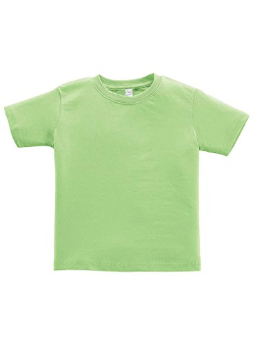 Rabbit Skins 100% Cotton Blank Toddler Football Jersey Tee [Size 2T] Key Lime Green Short Sleeve T-Shirt