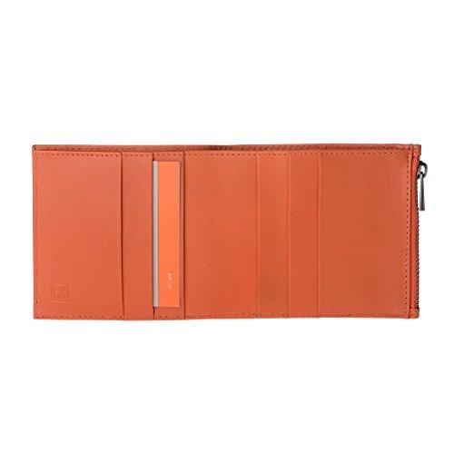 DuDu 597-660-16 - Bolso al hombro de Piel para hombre Naranja naranja compact