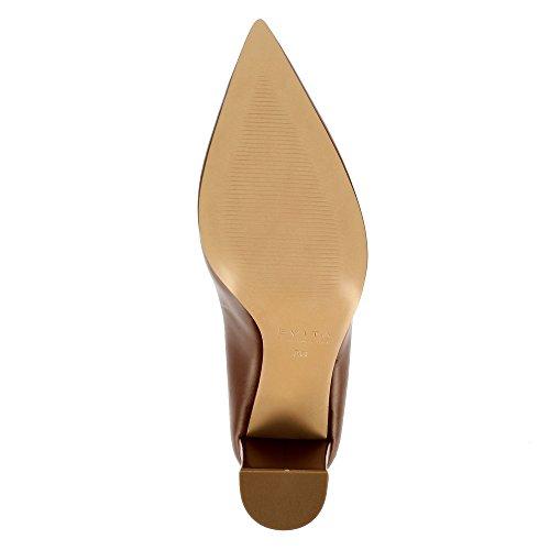 Evita Shoes Natalia Damen Pumps Glattleder Braun