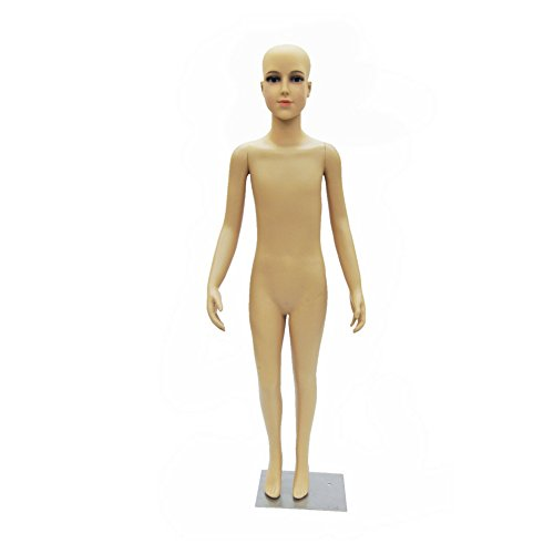 Realistic Full Body Kids Mannequin (7-8 Years Old) - Plastic Full Body Childrens Mannequin with Wig (#D1/D02+Wig)