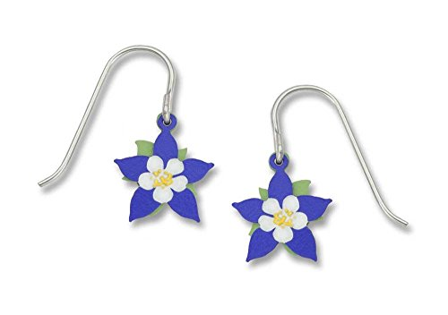 Sienna Sky Handpainted Columbine Flower 2-part Earrings 802-1