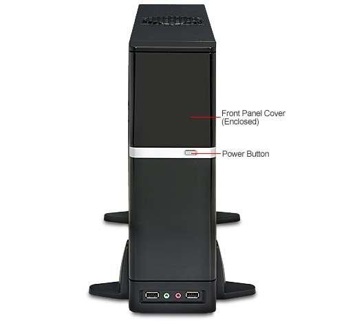 Matx Audio - Apex Case DM-387 microATX Desktop Black/Silver 275W 1/1/(1) Bays USB AUDIO Glossy Finished