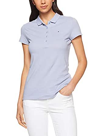 TOMMY HILFIGER Women's Slim Fit Polo, Eventide, X-Small