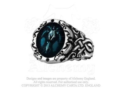 Dragons Celtica Ring Size Q, US 8 by Alchemy Gothic, -