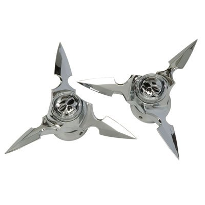 Kuryakyn Spun Blade Spinning Zombie Axle Caps Compatible for Harley-Davidson Dyna Daytona - FXDB 1992 Street Motorcycle Accessories - Chrome/One -