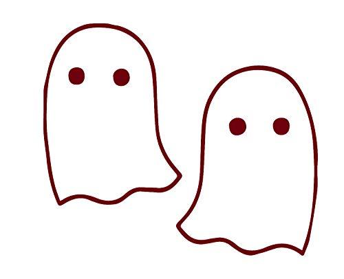 ANGDEST Halloween Little 3D Ghosties (Burgundy) (Set of