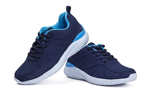 Kids Athletic Tennis Shoes - Little Kid Sneakers with Girl and Boy Sizes Blue Size 3 Little Kid (Azul - 34) 3 M US