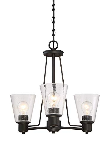 Designers Fountain 88083-ORB Printers Row 3 Light Chandelier, Oil Rubbed Bronze
