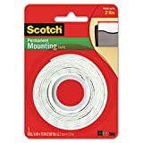 (3 Pack Value Bundle) MMM110 Foam Mounting Double-Sided Tape, 1/2 Wide x 75 Long