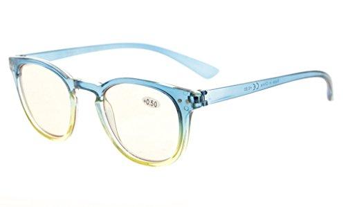 tensión de luz Rosado prevención de de lectura de del Marco Amarillo Gafas ordenador Frame 3 Verde Eyekepper Azul digitales de 00 azul ojos la la mujer gafas bloqueo qwIUtP