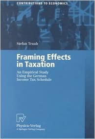 Book Framing Effects In Taxation An Empirical Study Using The German Income Tax Schedule