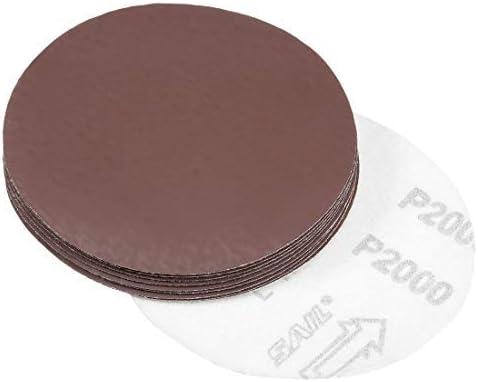 - 5-inch sanding disc, 2000, 10-piece grit sandpaper for sander