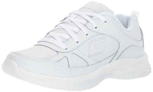 Skechers Kids Girls' Dream N'Dash Sneaker,White,5 M US Big Kid
