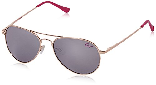 Betsey Johnson Women's Sydney Aviator Sunglasses, Gold & Silver, 62 - Sunglasses Aviator Steve Madden