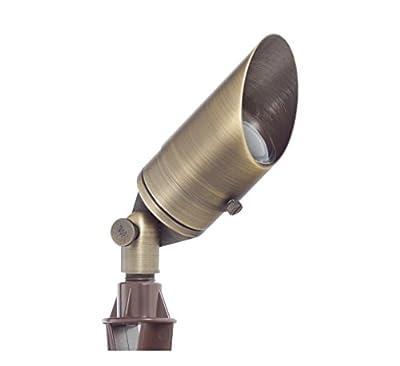 Westgate Lighting LED Directional Landscape Light- Antique Bronze Finish 12V LED Light-Convex Glass Lens LED Directional Light-7W LED Landscape Light- 3 Year Warranty (Bronze)