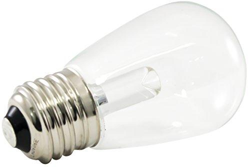 mmable LED S14 Transparent Light Bulbs, E26 Medium Base, 2700K Warm White, 25-Pack ()