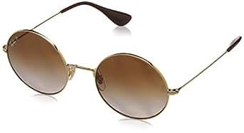 Ray-Ban Women's Ja-Jo Polarized Iridium Round Sunglasses, Gold, 50 mm