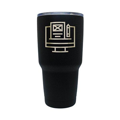 Blog Black Stainless Steel Tumbler, 30 Oz Insulated Tumbl...