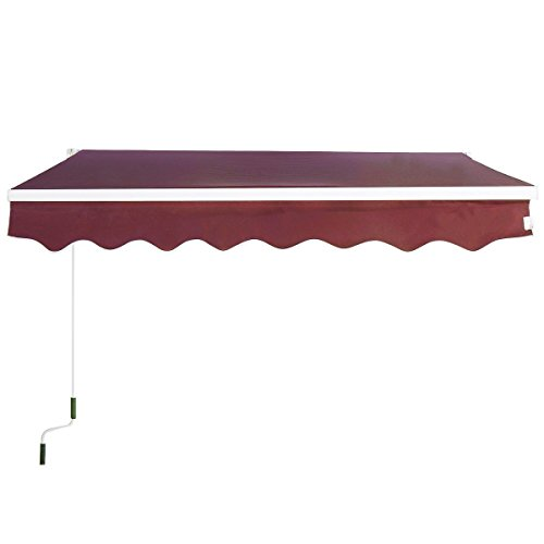 Goplus Manual Patio 6 4 215 5 Retractable Deck Awning