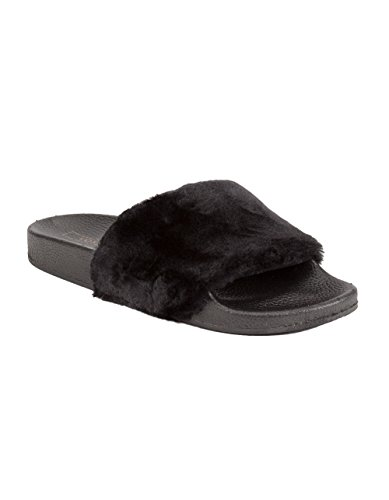 Yoki Womens Riri Slipper Nero
