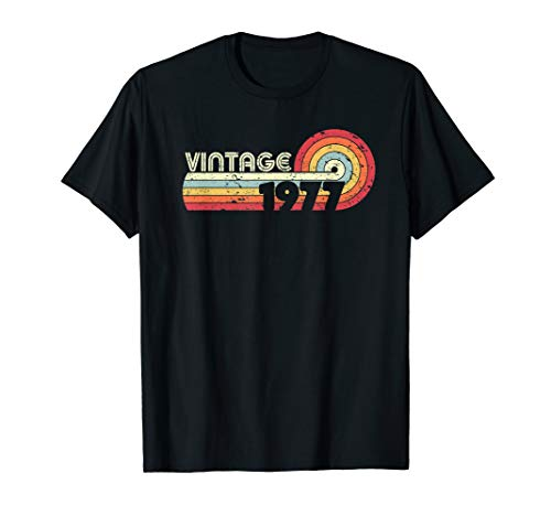 - 1977 Vintage T Shirt, Birthday Gift Tee. Retro Style Shirt.