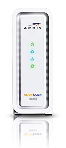 ARRIS Surfboard SB6183-RB 16x4 DOCSIS 3.0 Cable Modem, (Certified Refurbished)-White by ARRIS