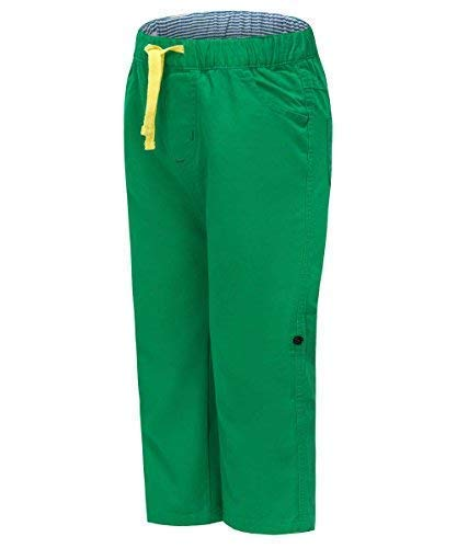 Gorboig Kids Toddler Boys Childrens Knee Pull On Catton Pants Perfect for School Outdoor Pants Casual Trousers Green