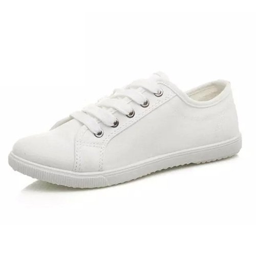 Transpirable Lace white Zapatos Puro amp;G Mujeres NGRDX De Mujer De Mujer Color Zapatos Casuales Lona Zapatos Planos De UqwwBOT6