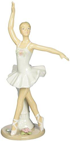 Cosmos 10627 Fine Porcelain Ballerina En Pointe Position Figurine, (Pointe Ballerina)